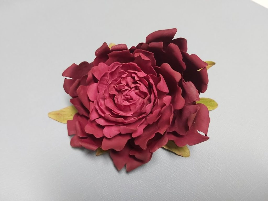 Peony sugar flower